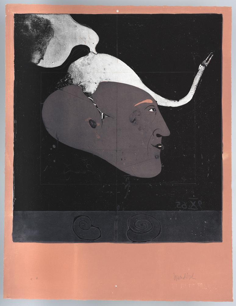 1965 | Kopf mit Schwan, aus Mappe D.B.