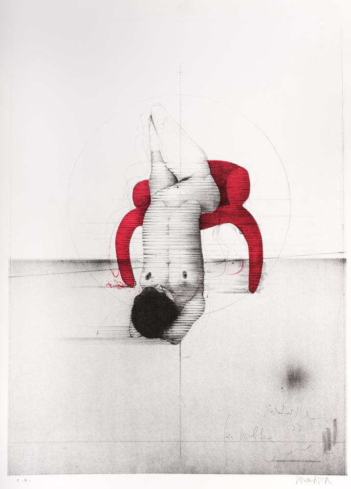 1966 | Akt auf rotem Stuhl (Plakat Düsseldorf)