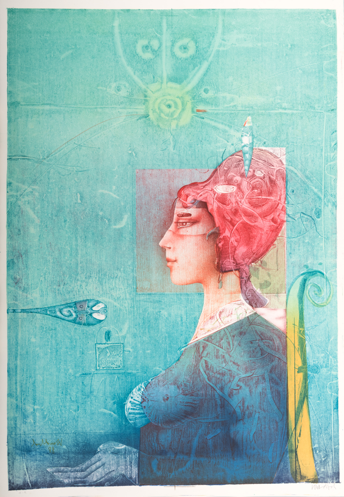 1988 | Frau mit rotem Haar
