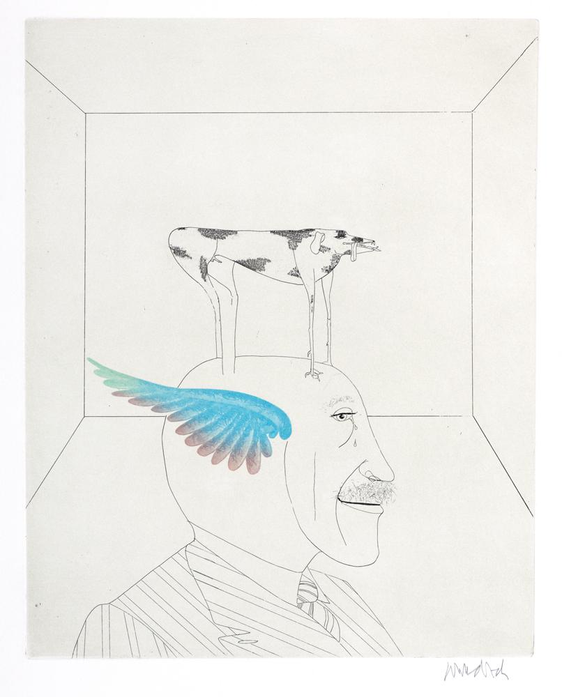 1974 | Selbst mit Hund und Flügel