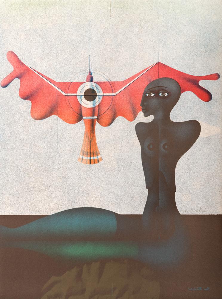 1976 | Odaliske mit rotem Vogel