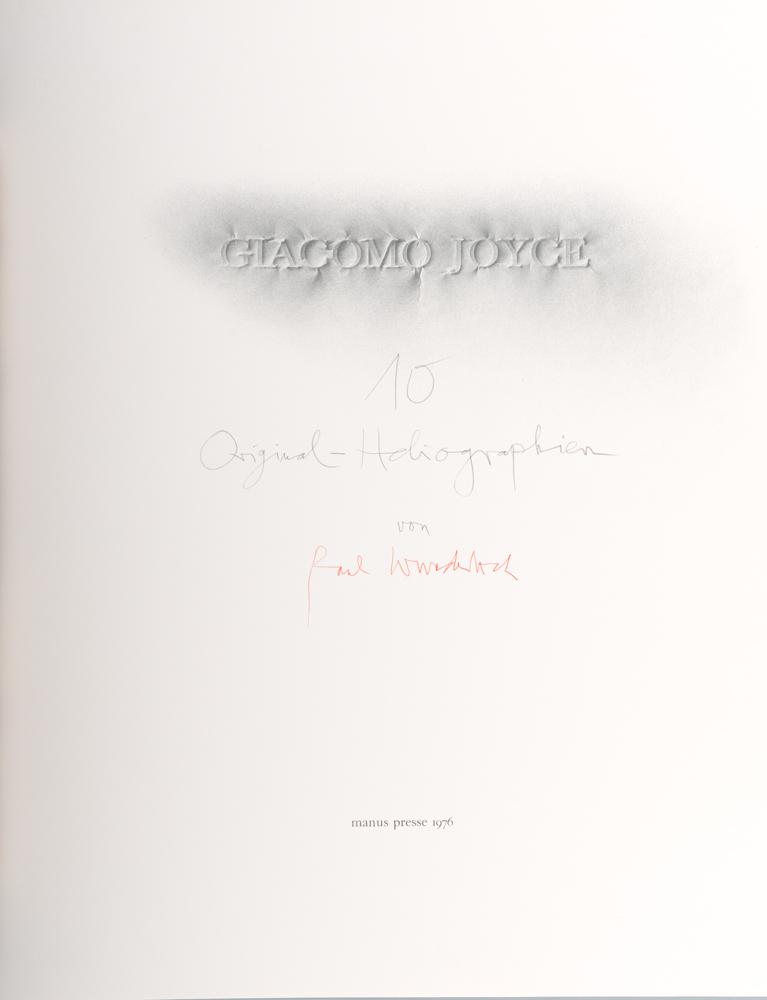 1976 | Giacomo Joyce, 1, Titelblatt