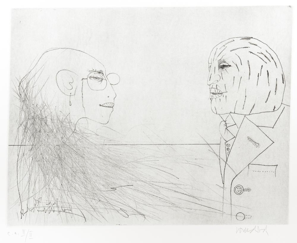 1976 | Paul mit Maske und Karin
