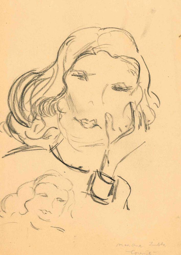 1945 | Mädchenkopf, Studie
