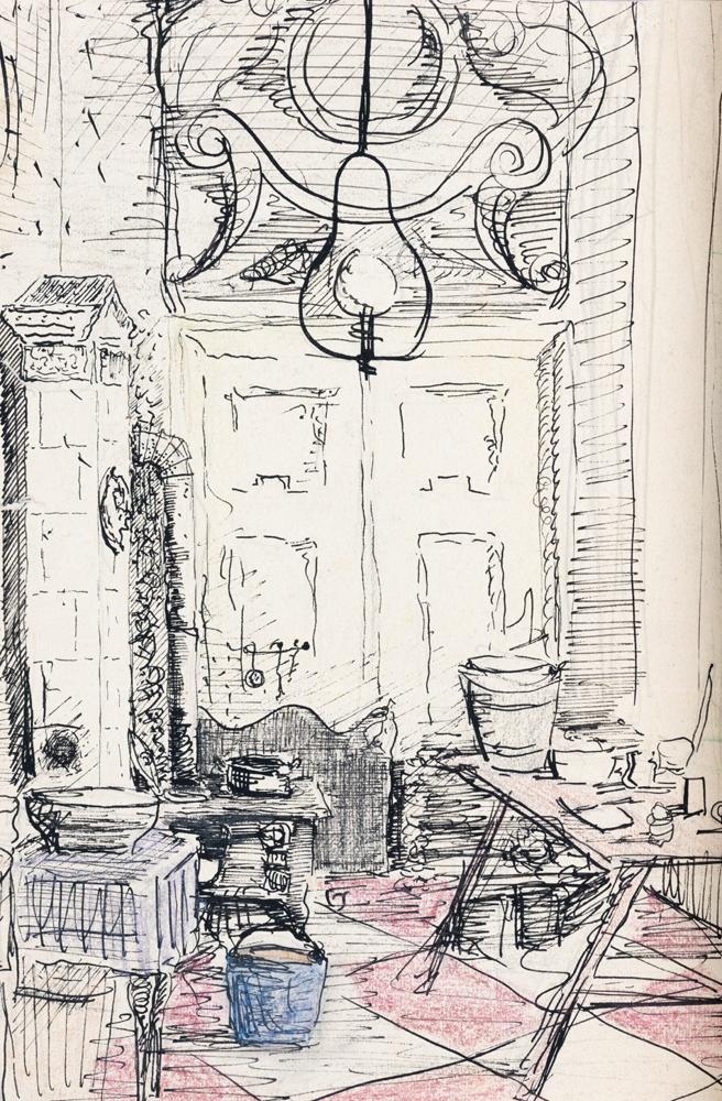 1945 | Wohnraum im Schloß Eutin