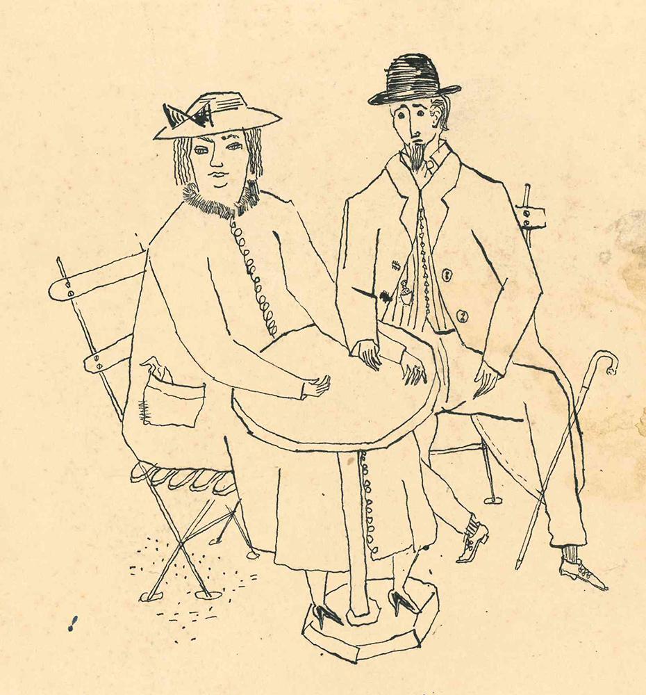 1950 | Paar am Tisch