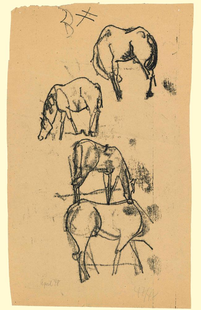1948 | Studie mit 4 Pferden