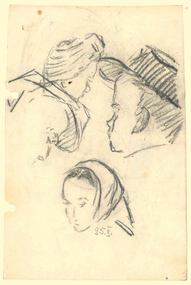 1954 | Drei Köpfe, Studie