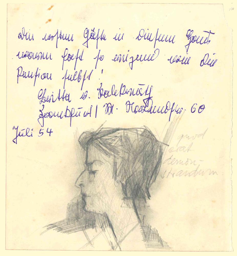 1954 | Frauenkopf aus Gästebuch
