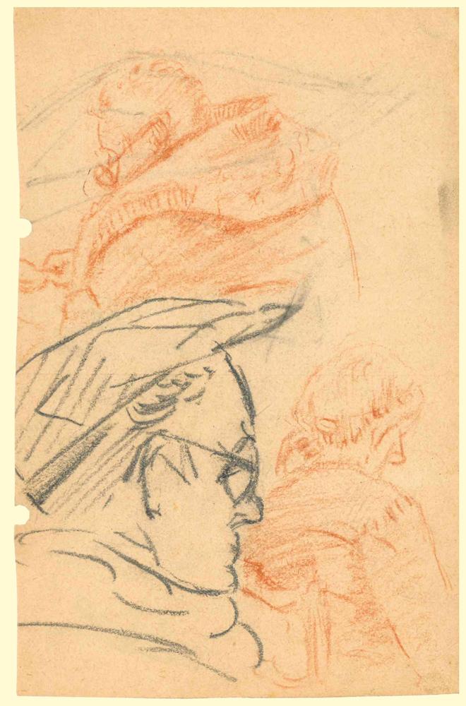 1952 | Männerprofil mit Schiebermütze