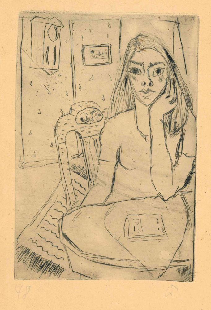 1948 | Barabara am Tisch