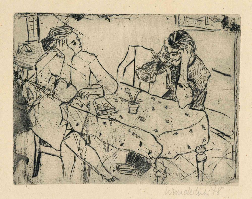 1948 | Zwei Personen am Tisch