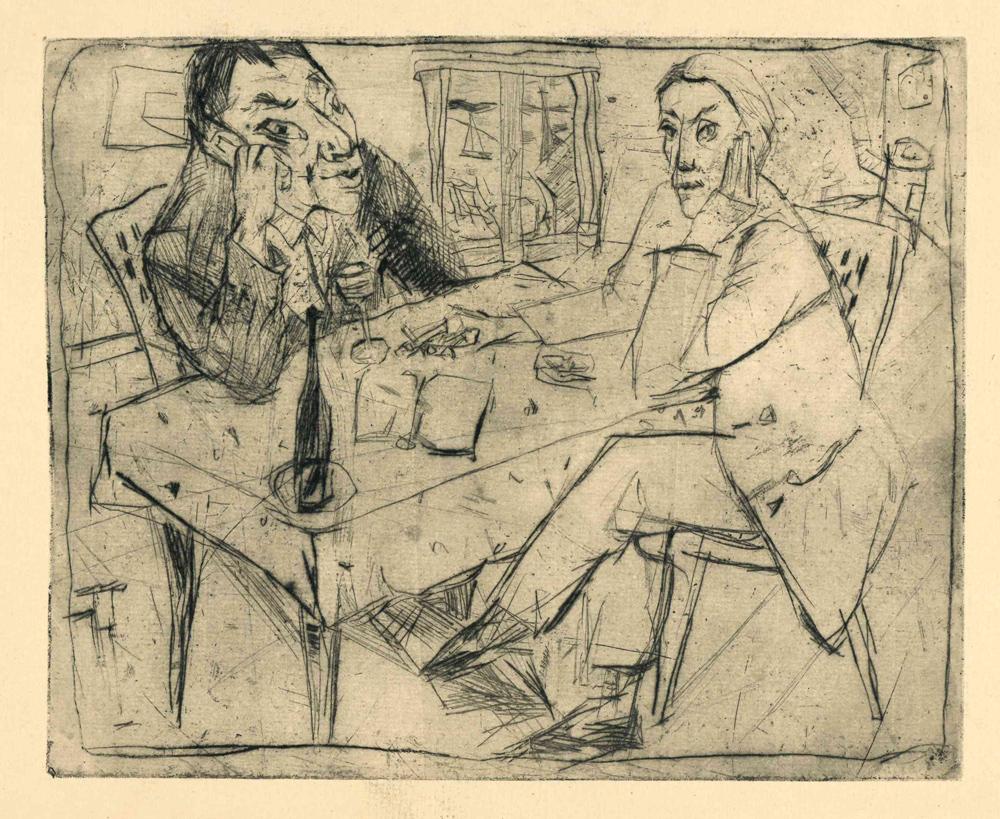 1948 | Zwei Männer am Tisch