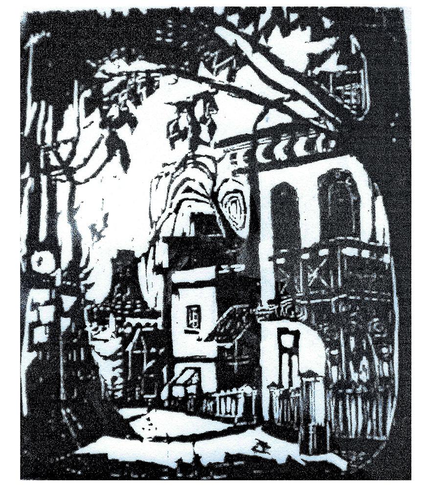 1949 | Stadtansicht mit Kirche