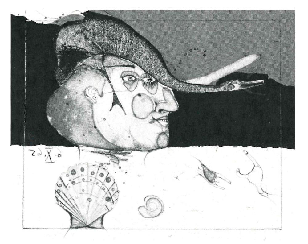 1965 | Kopf mit Schwan und Muschel