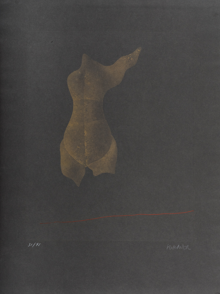 1969 | Goldener Torso mit einem Flügel