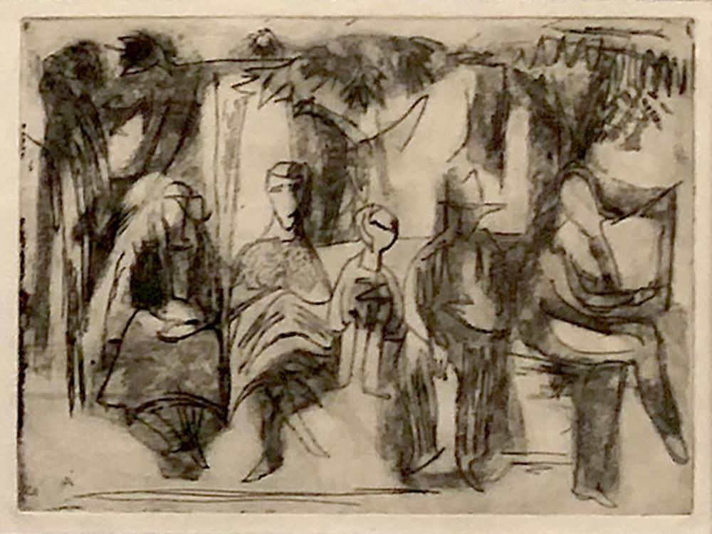 1948 | Fünf Personen auf einer Bank