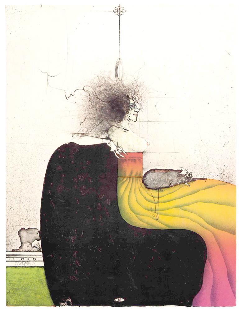 1974 | Dame mit Schoßhund